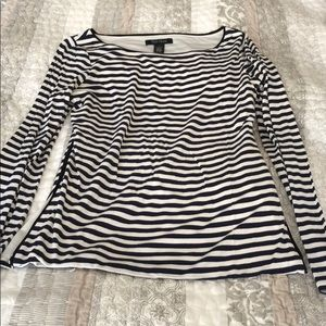 Navy and White WHBM cotton top